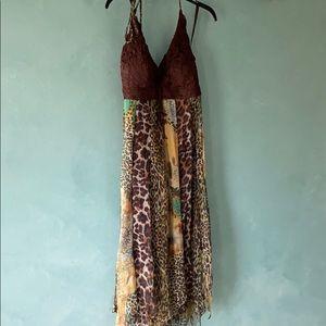 SueWong size 10 size zip halter dress